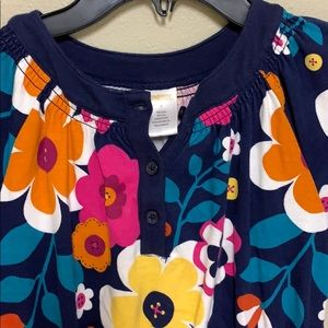 Gymboree navy floral dress. Size 6